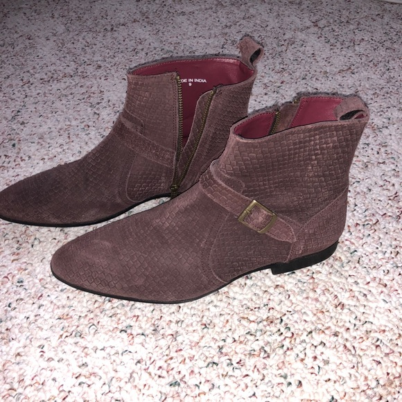 cedb9a64647 ASOS snakeskin boots in brick red